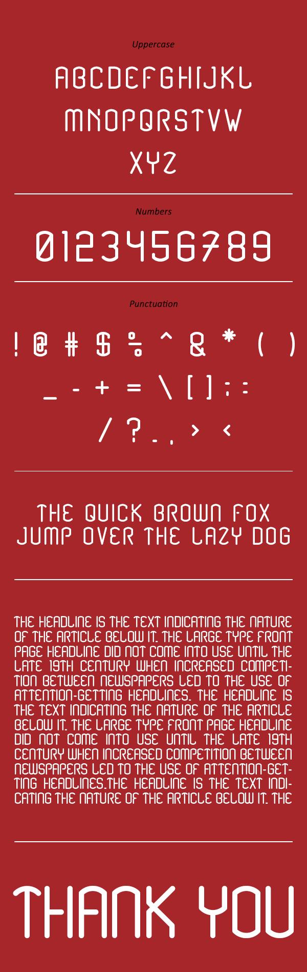 Renesnip Sans Font Letters