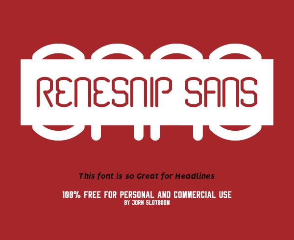 Renesnip Sans Free Font
