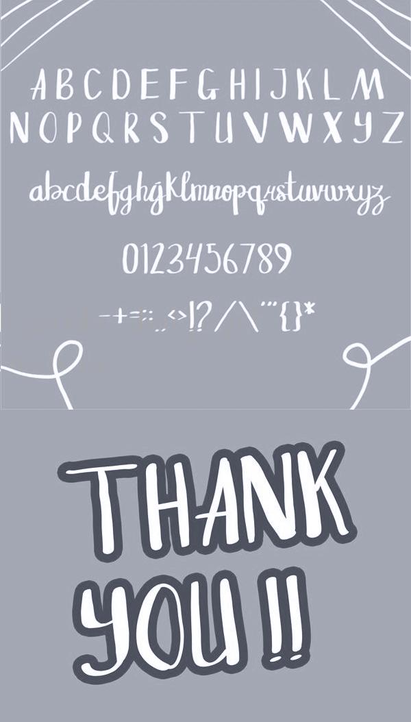 Sangkala Font Letters