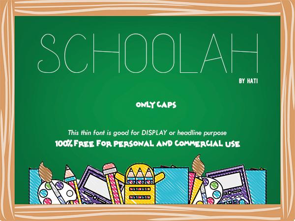Schoolah Free Font