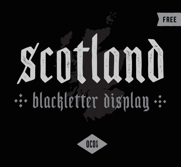 Scotland Display Free Font