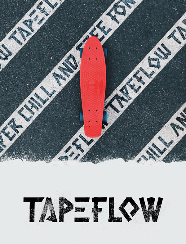 Tape Flow Hand-crafted Free Font