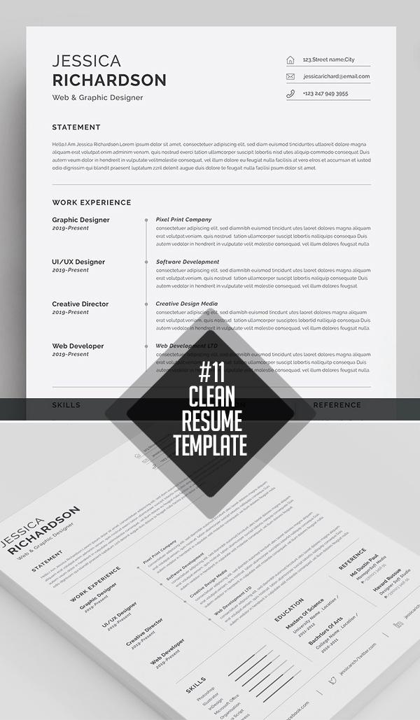 35 Best Minimal CV Resume Templates
