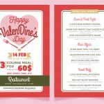How to Make a Valentine's Dinner Restaurant Menu Flyer Template