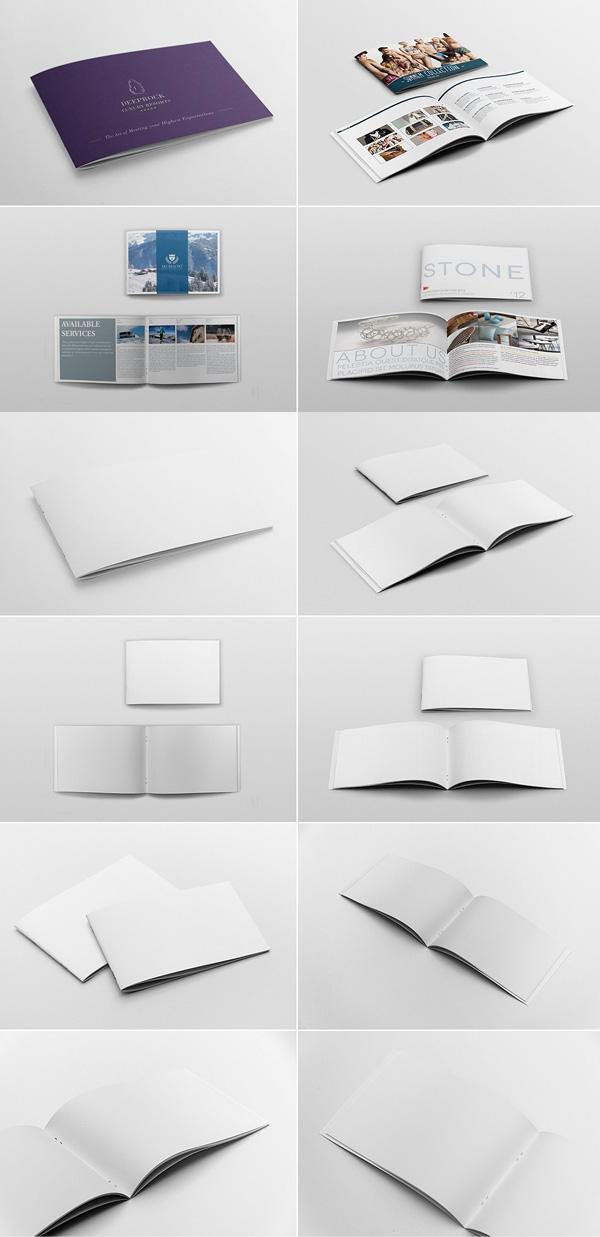 Landscape Brochure Mockups