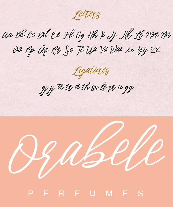 Aperto Font Letters