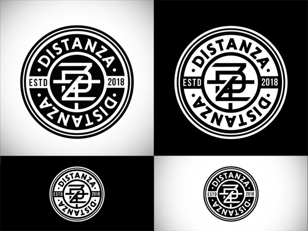 Distanza Badge Logo