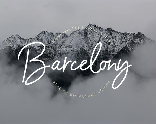 Barcelony Signature Free Font