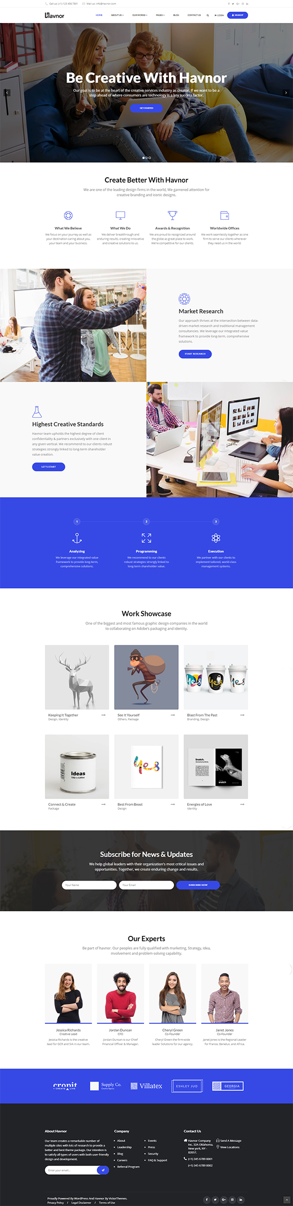 Havnor - Corporate Responsive Multi-Purpose WordPress Theme