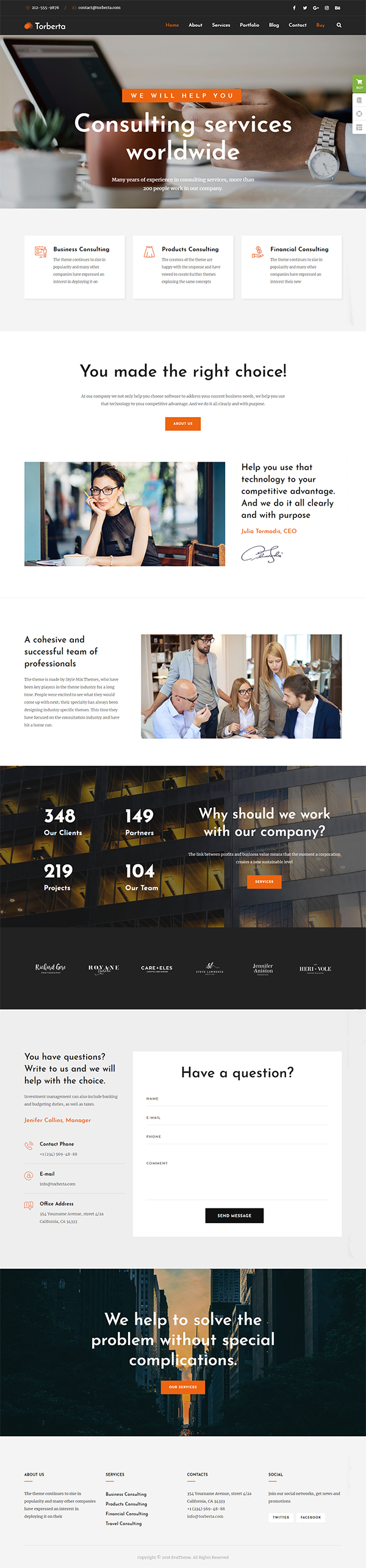 Torberta - Consulting & Finance WordPress Theme