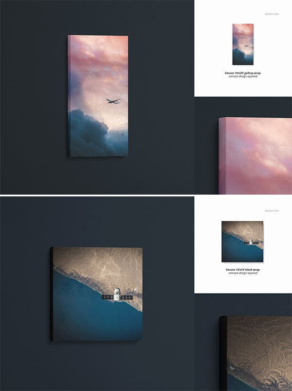 Canvas Print Mockup Set