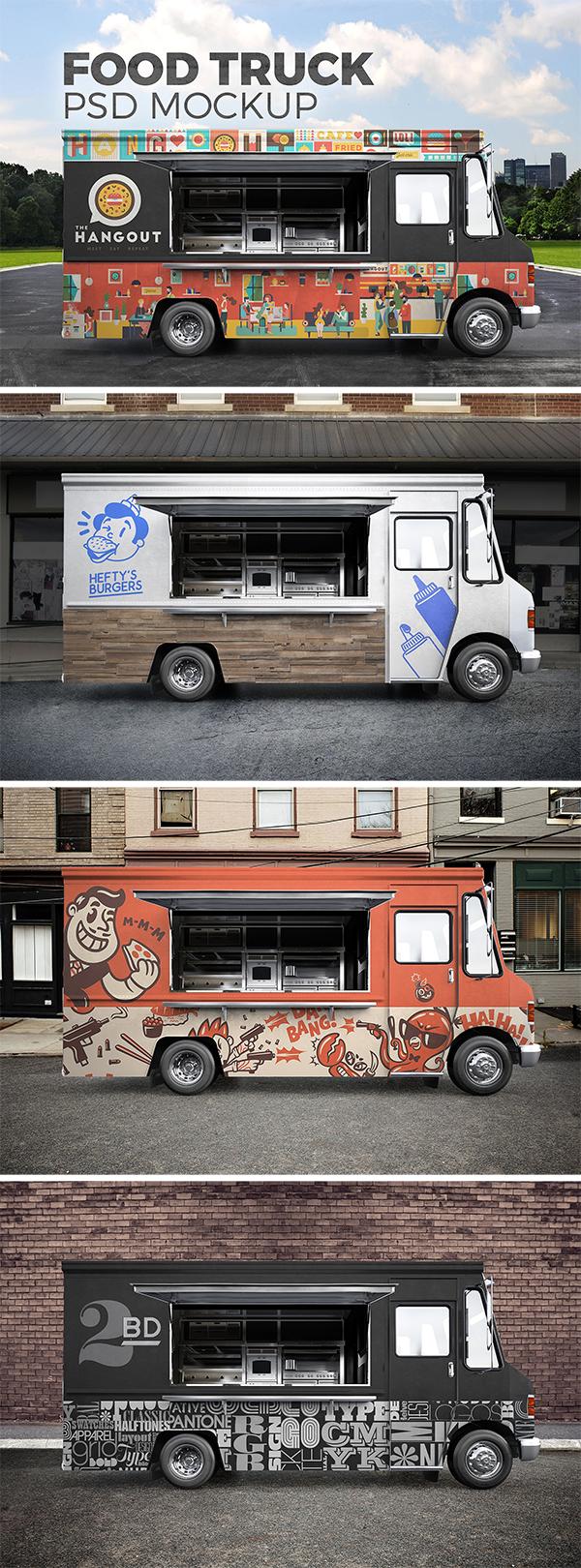 Food Truck PSD Mockup