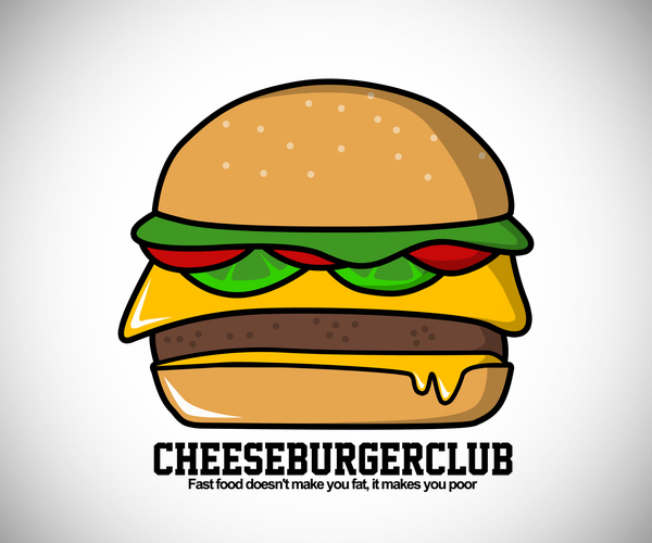 Cheese Burger Club Logo Deisgn