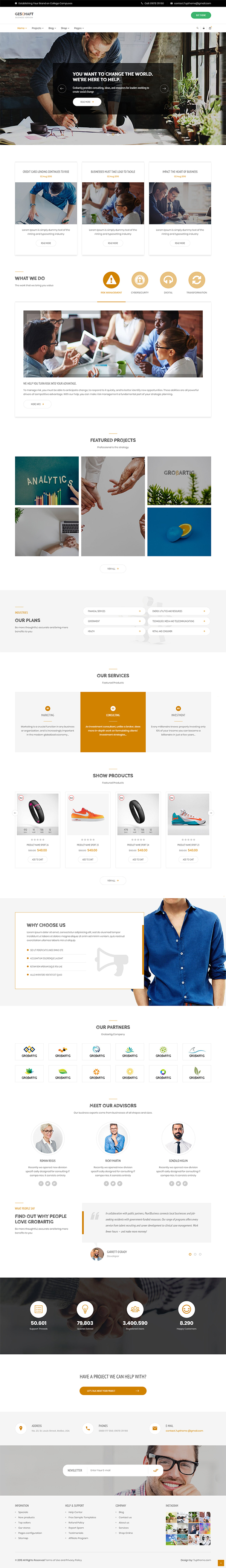 Geschaft - Business WooCommerce WordPress Theme