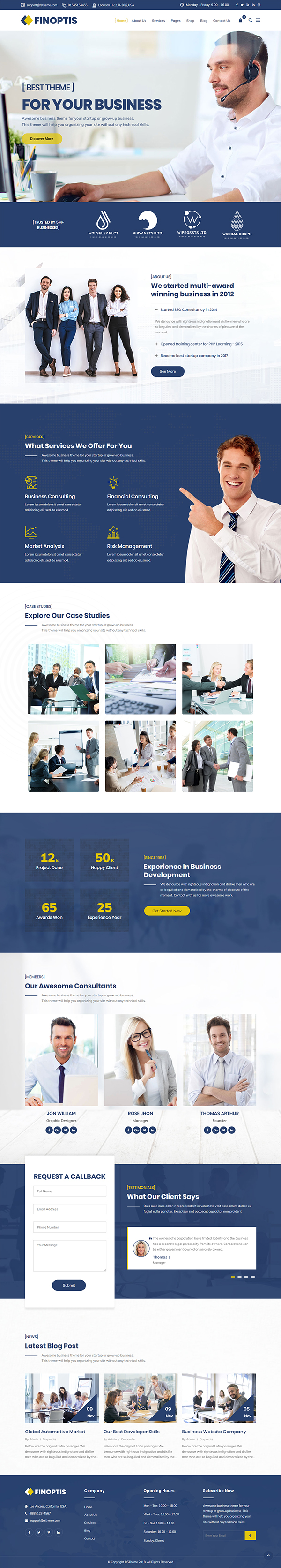 Finoptis - Multipurpose Business WordPress Theme
