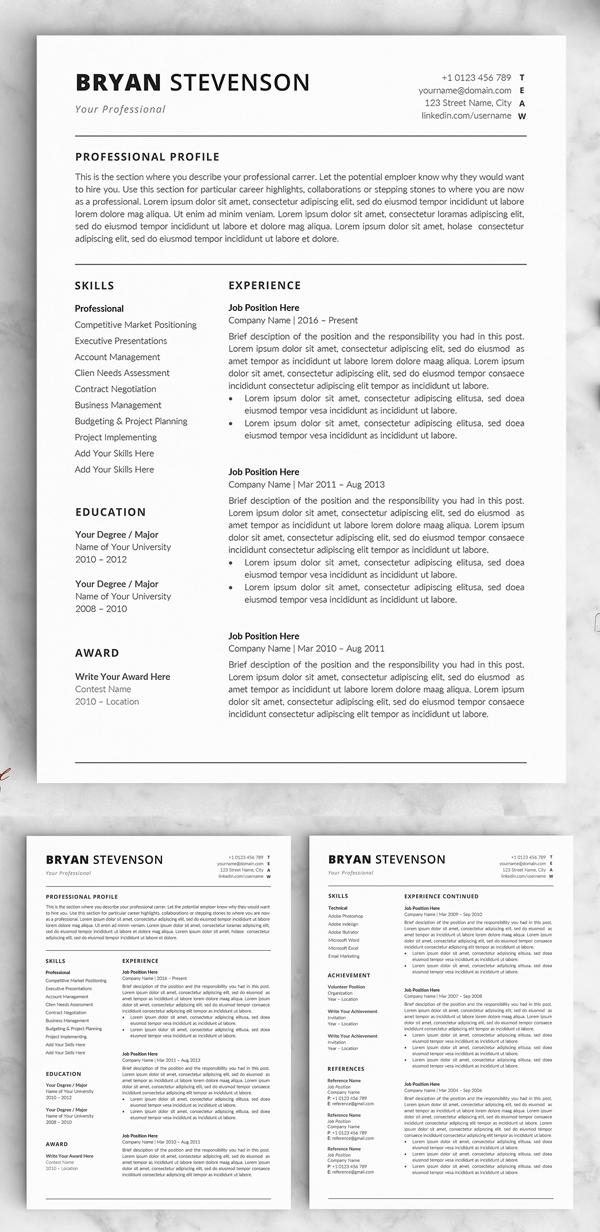 Resume / CV - The Bryan