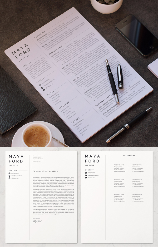 Simple Creative Resume Template