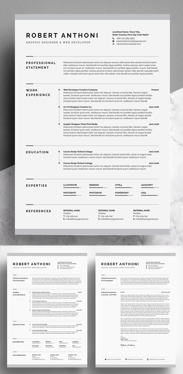 Awesome & Creative Resume / CV Template