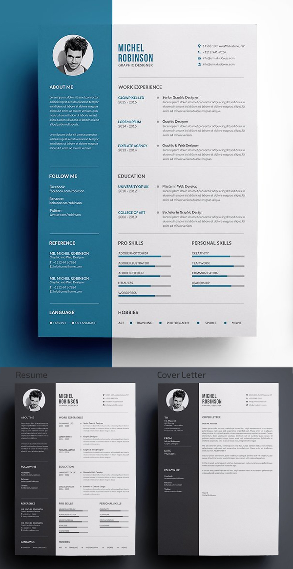 Clean and Simple CV / Resume & Cover Letter