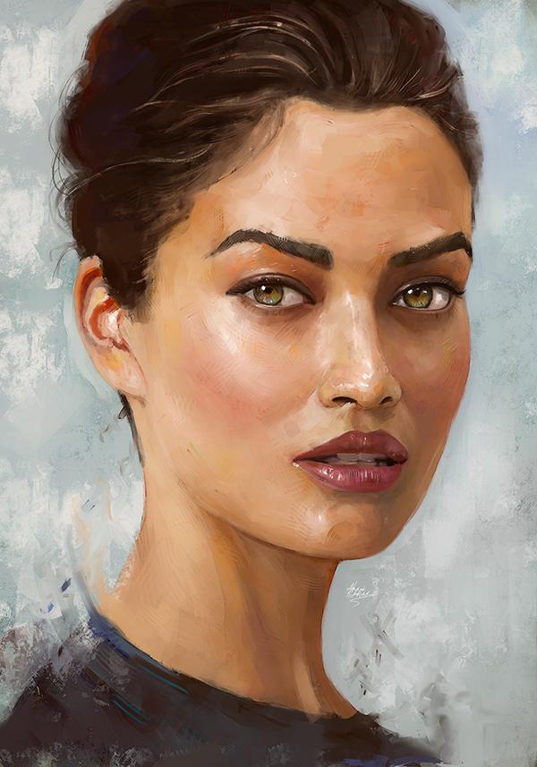 Amazing Digital Illustration Portrait Paintings by Ahmed Karam - 14