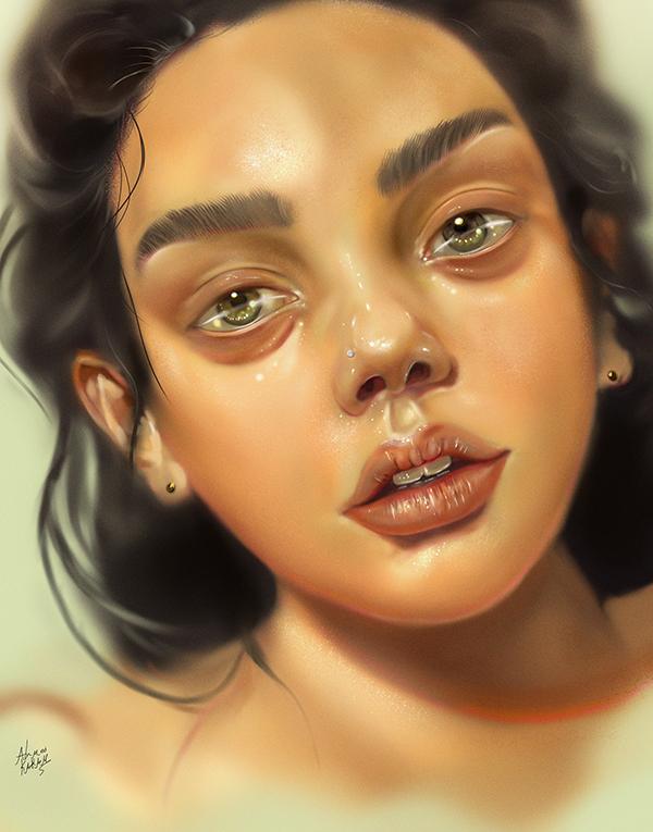 Amazing Digital Illustration Portrait Paintings by Ahmed Karam - 3