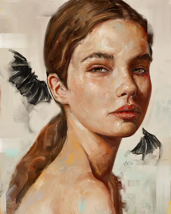 Amazing Digital Illustration Portrait Paintings by Ahmed Karam - 7