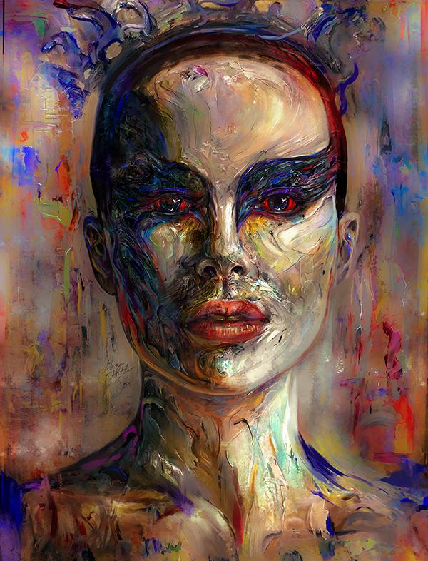 Amazing Digital Illustration Portrait Paintings by Ahmed Karam - 8