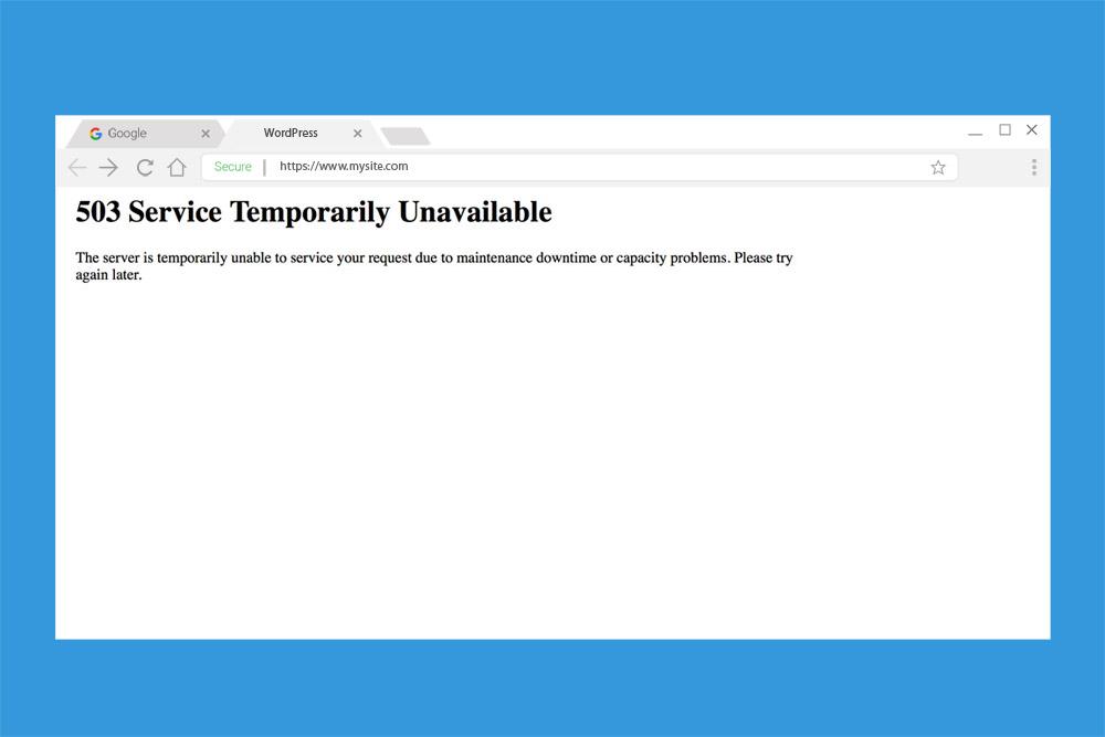 503 service unavailable wordpress error
