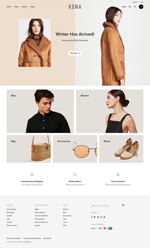 Kona - Modern & Clean eCommerce WordPress Theme