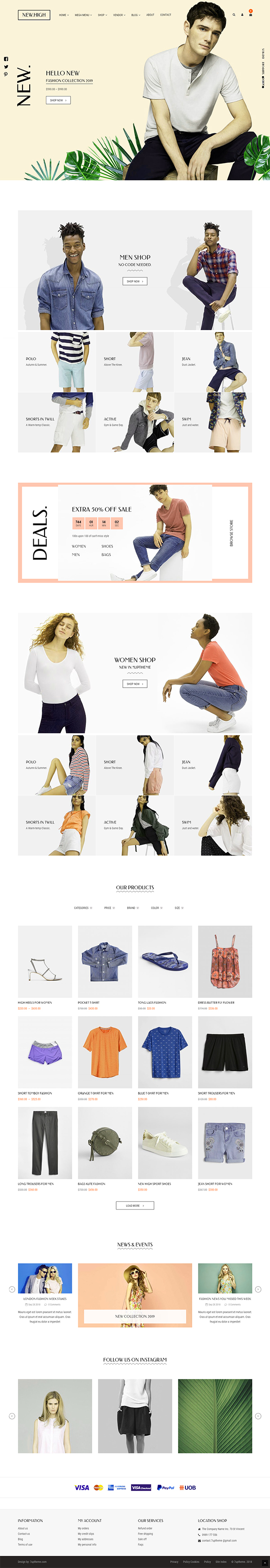 New-High Fashion WooCommerce WordPress Theme