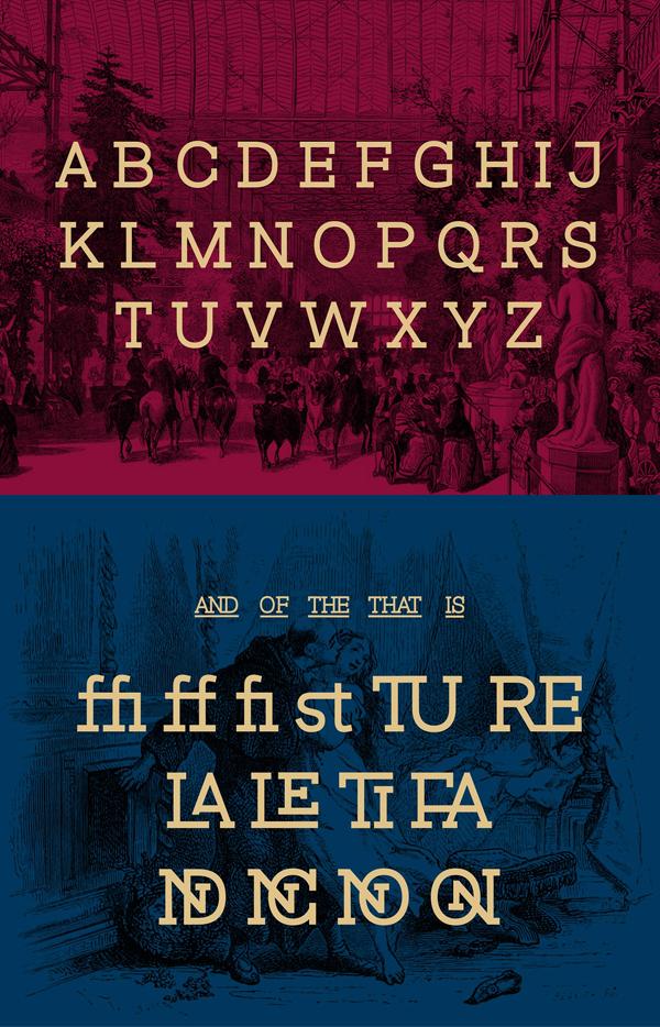 Magz Slab Font Letters