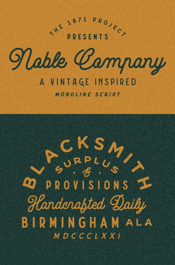 Noble Company Free Font