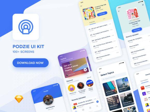Podzie: UI kit for podcast app