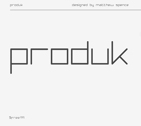 Produk Free Font