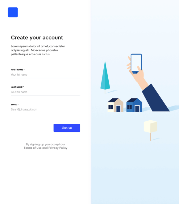 Signup flow, preview 01