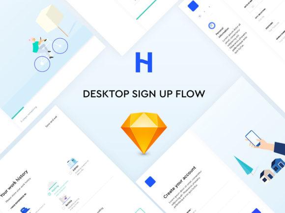 Signup flow: 6 beautiful UI screens