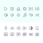 60 SVG multimedia icons