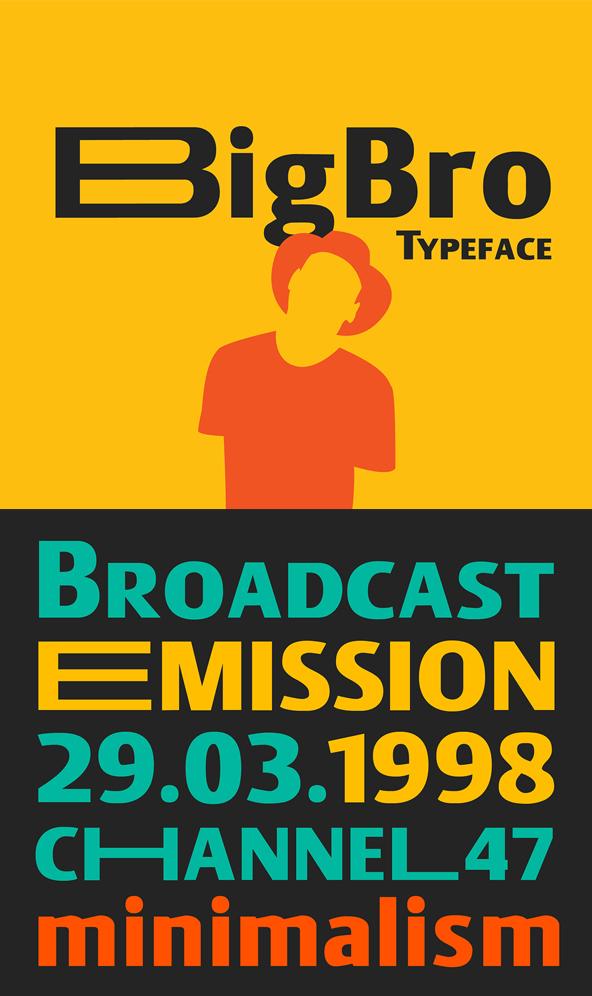 BigBro Free Font