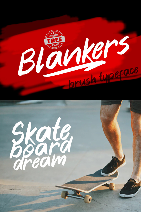Blankers Free Font