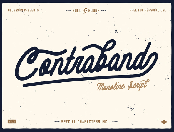Contraband Monoline Script Free Font
