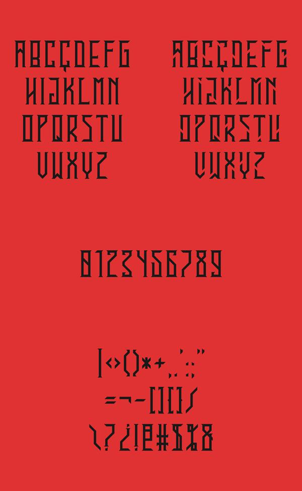 EN Garde Font Letters