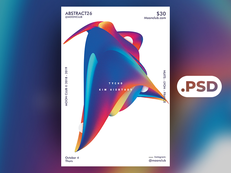 Free Abstract 2 Flyer/Poster Template