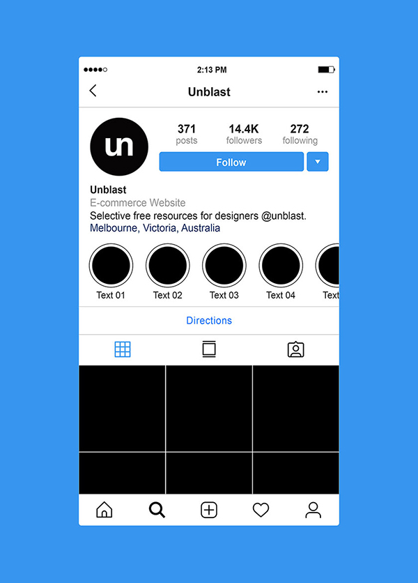 Free Instagram Profile Page Mockup (2019)