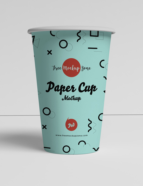Free Brand Paper Cup Mockup