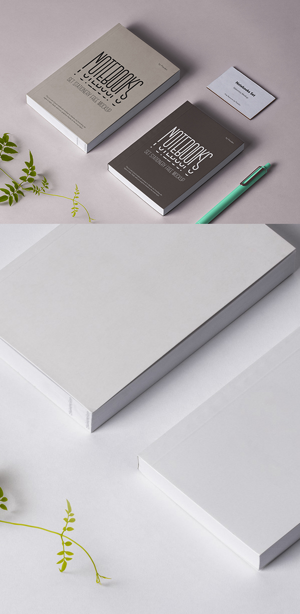 Free Psd Notebook Stationery Mockup Template