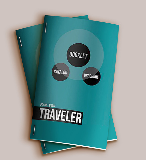 Free Pocket Booklet Catalog Mockup and Template