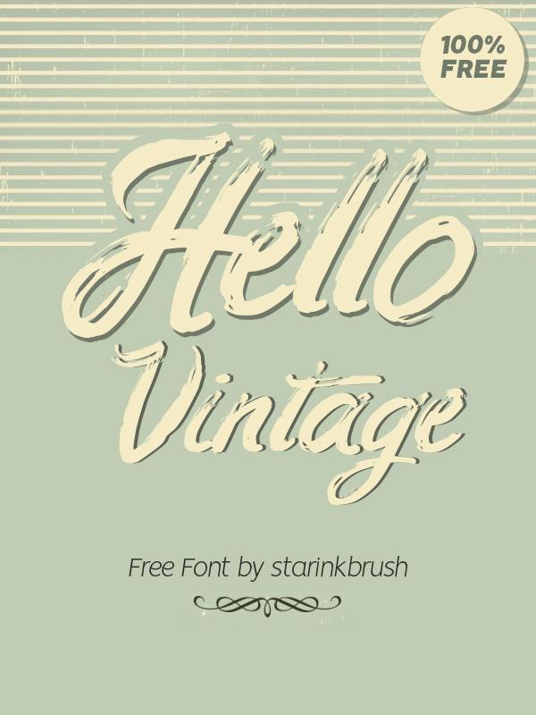 Hello Vintage Free Font