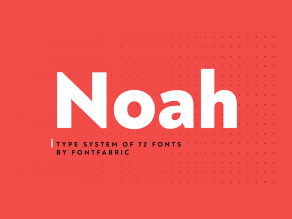 Noah: A geometric sans-serif font