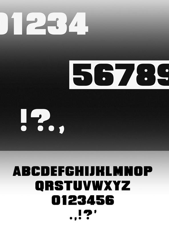 Quittance Bold Font Letters