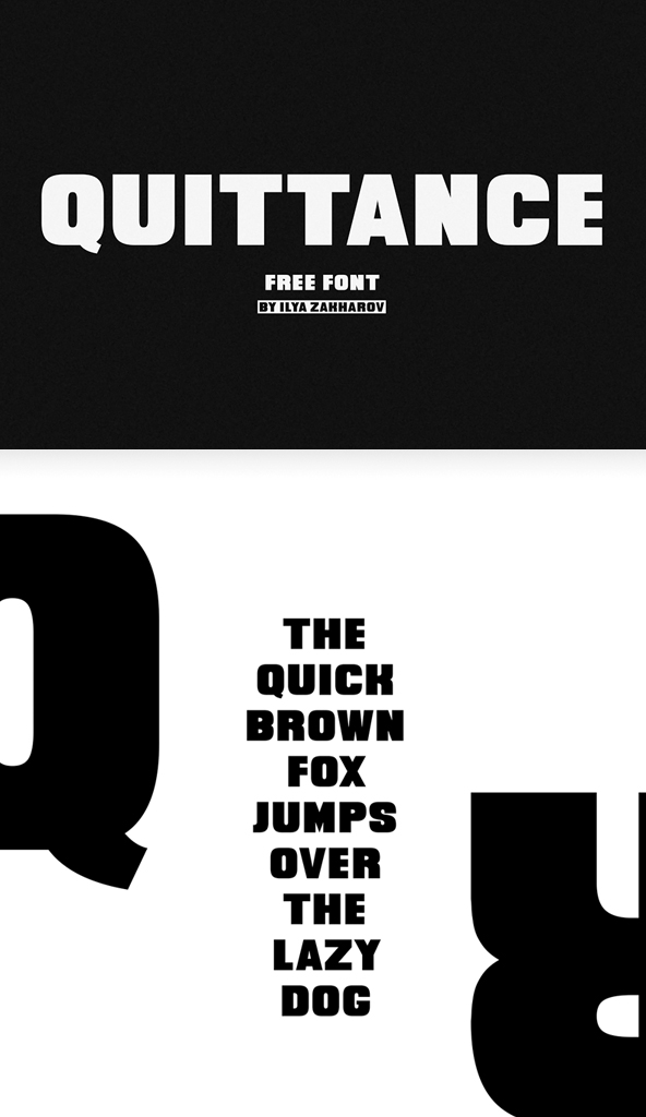 Quittance Bold Free Font